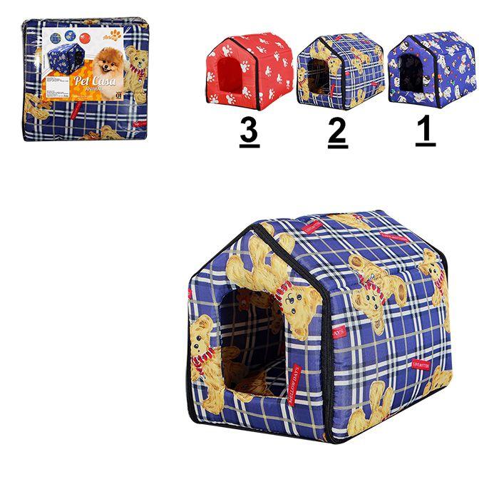 Casinha Para Cachorro 45 X 37 X 42cm  Pet Cão Cama 8355
