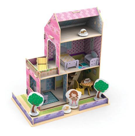 Casinha Para Montar De Madeira Little House Verão - 50 Peças