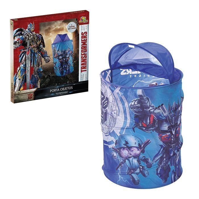 Cesto Organizadora Transformers azul Infantil para brinquedo
