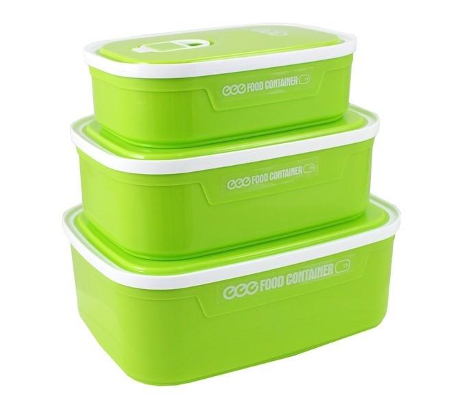 Conjunto de Potes p/ Alimentos c/ 3 Peças AWM17155-VE Jacki Design