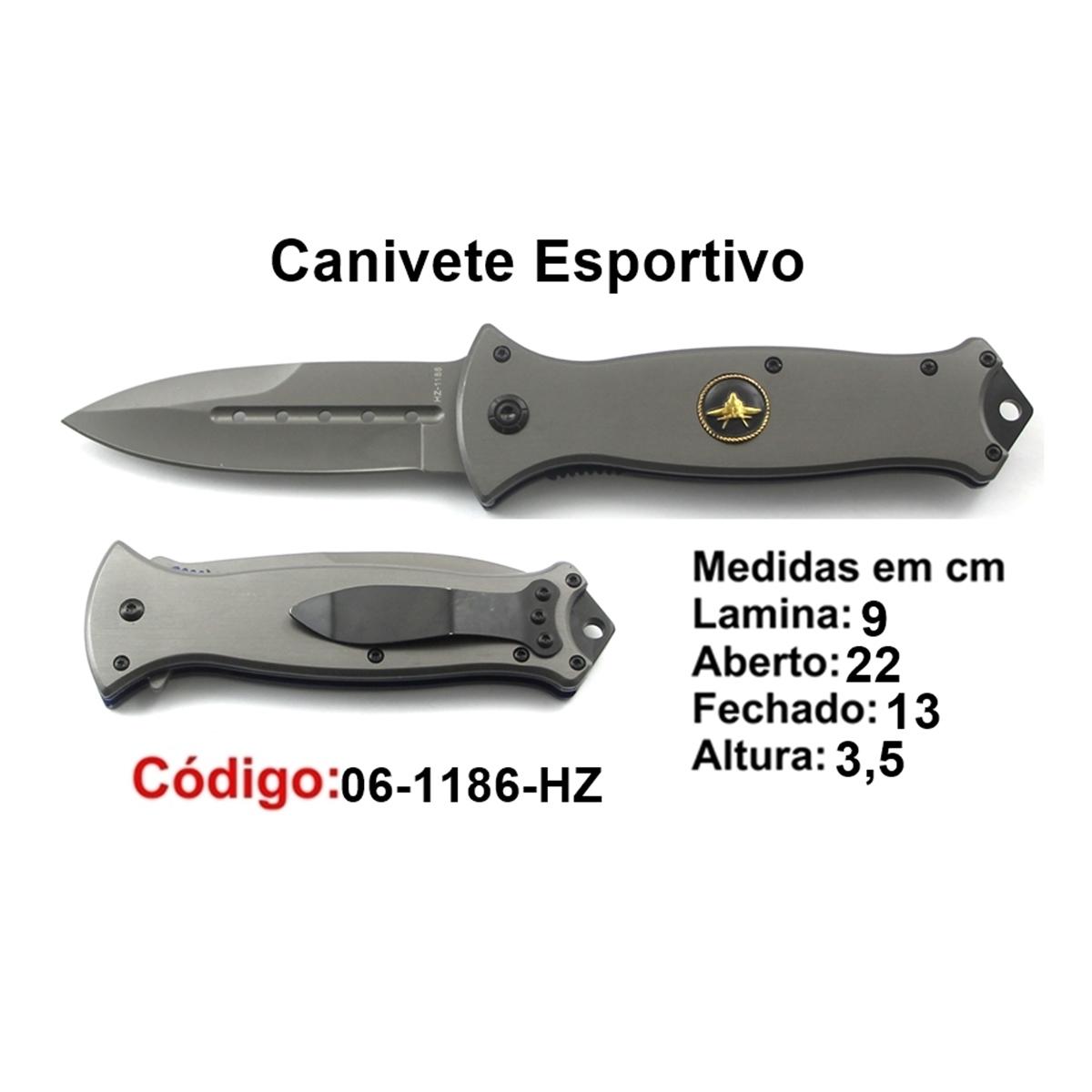 Canivete Esportivo Caça Pesca Etc. 06-1186HZ