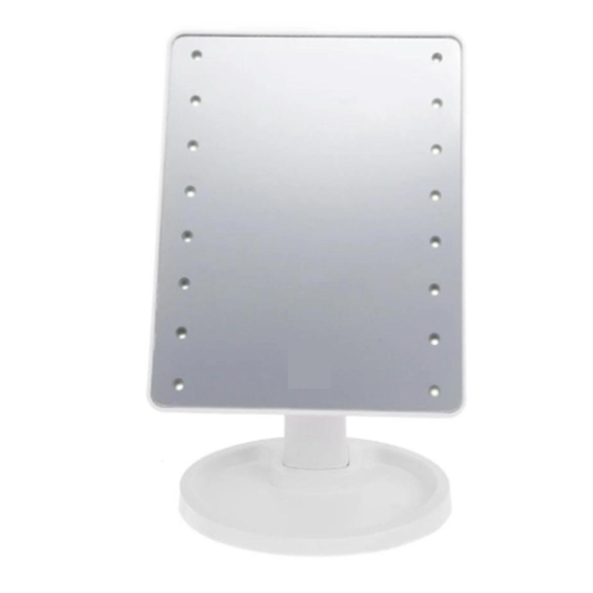Espelho De Mesa Luz 16 Leds Maquiagem Articulado Á Pilhas F-96217