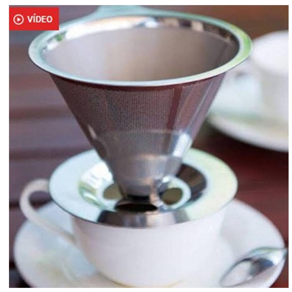 Filtro Coador de Café Inox Camada Dupla Ke Home - 6792