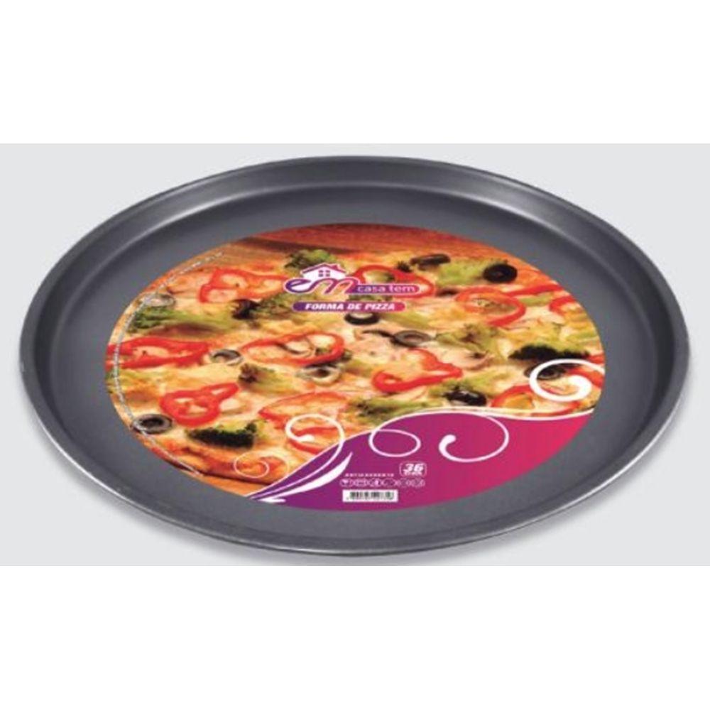 Forma Pizza Antiaderente Assadeira 36cm em aço carbono 11497-1