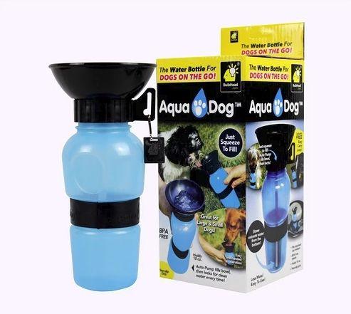 Garrafa Pet Aqua Dog Cat Viagem Passeio Cães E Gatos Portatil MC41305