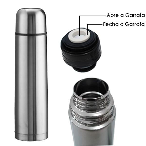 6412 Garrafa Térmica Inox 750ml Inquebrável Café, Chá E Outros 6412