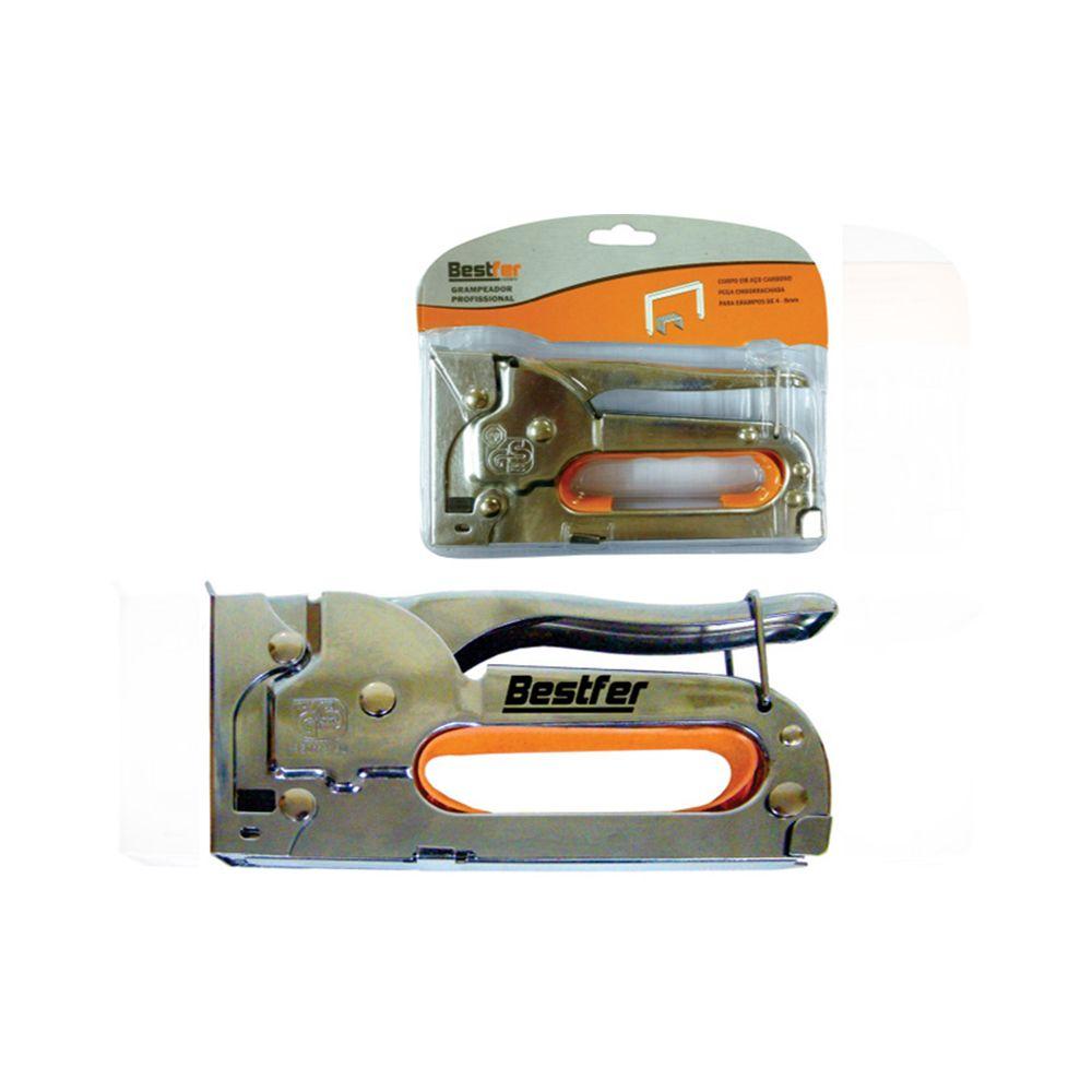Grampeador Profissional tapeceiro de 4 a 8mm Alta Pressão Bestfer Bfh0257