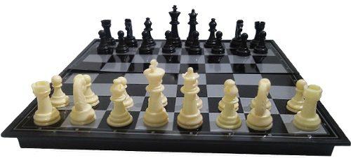 Jogo 3/1 Xadrez dama gamão Magnético Peças Com Imã 24x24cm AM-2031