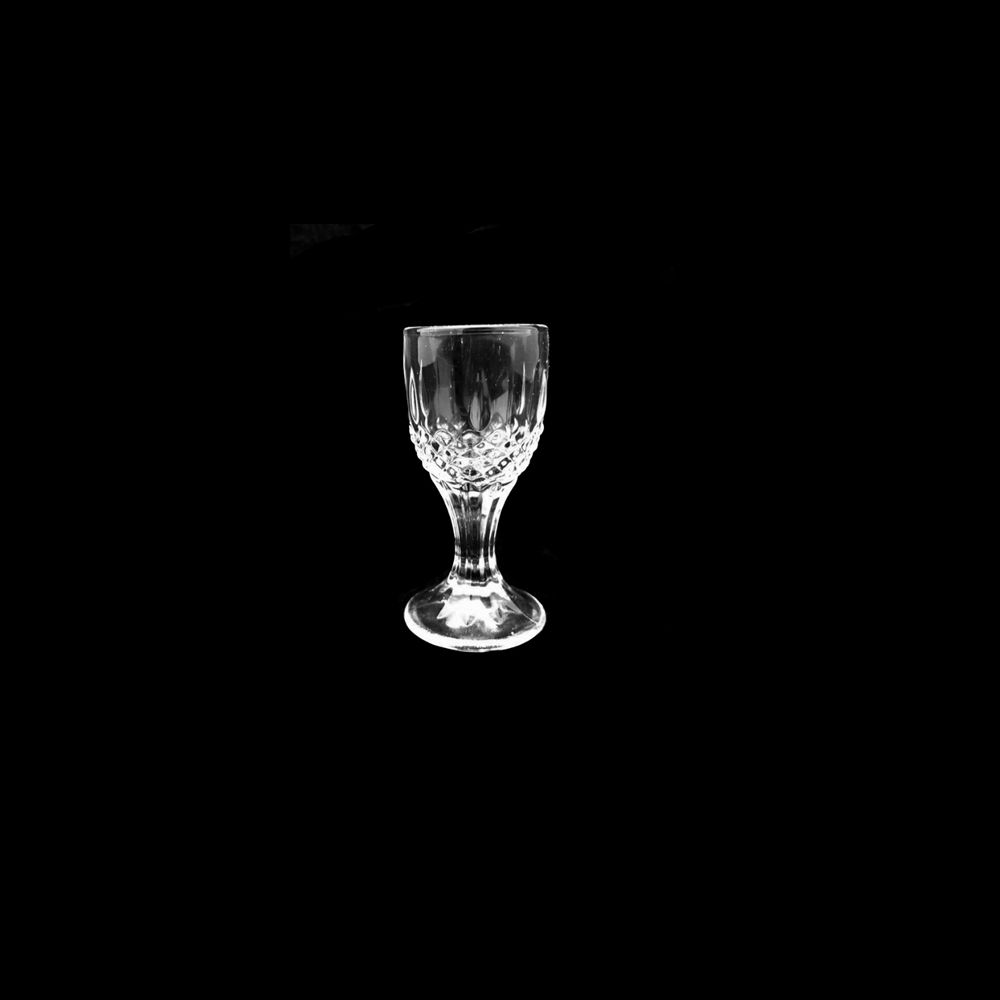Jogo com 12 Mini Taça Licor Cálice Em Vidro Decoração 7ml Unik Home UH09TL-02-12