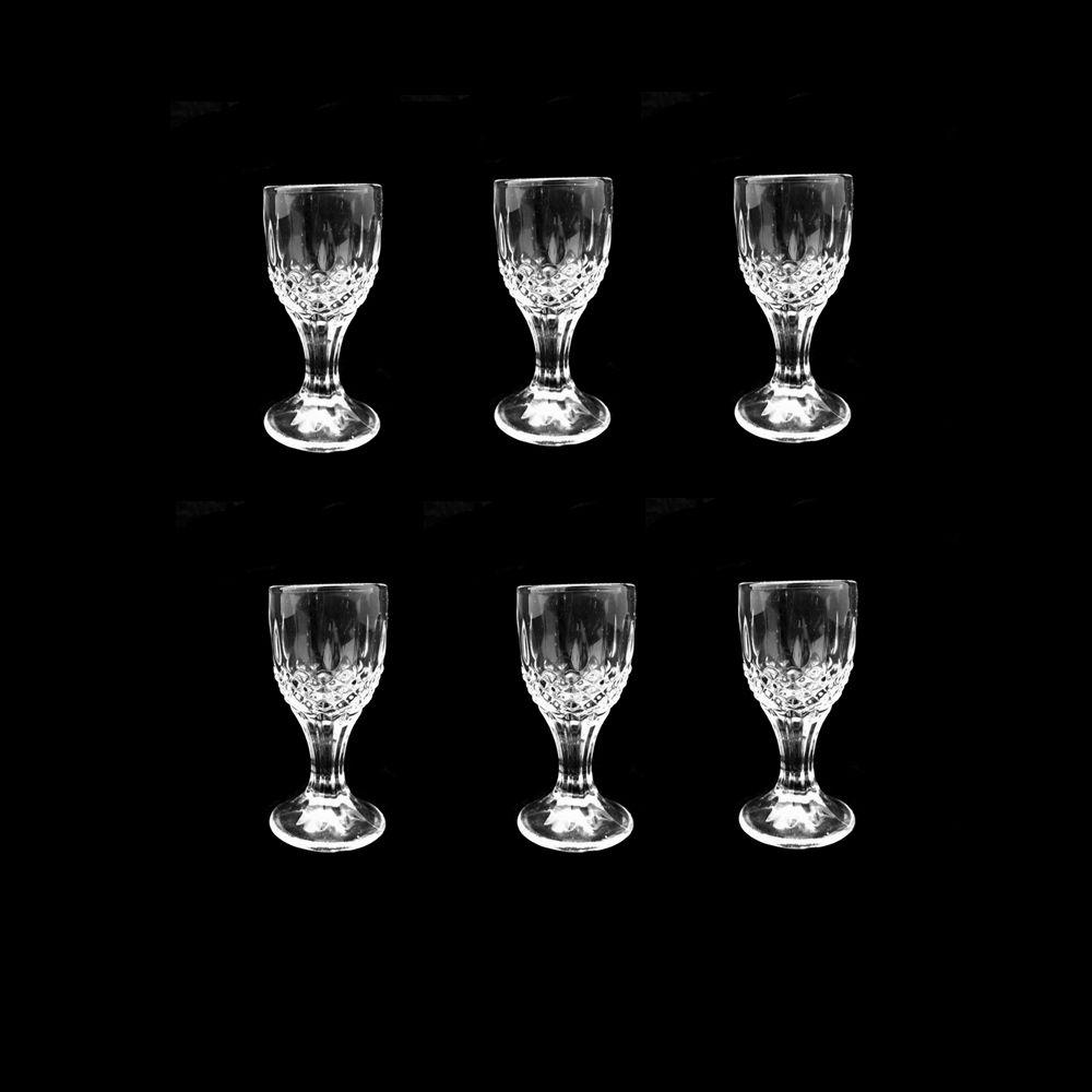 Jogo com 6 Mini Taça Licor Cálice Em Vidro Decoração 7ml Unik Home UH09TL-02-6