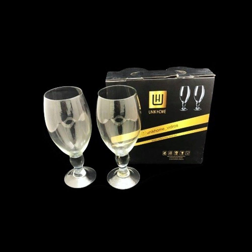 Jogo De 2 Taças de Vidro Para Cerveja e Outros 420ml Unik Home UH090048-2