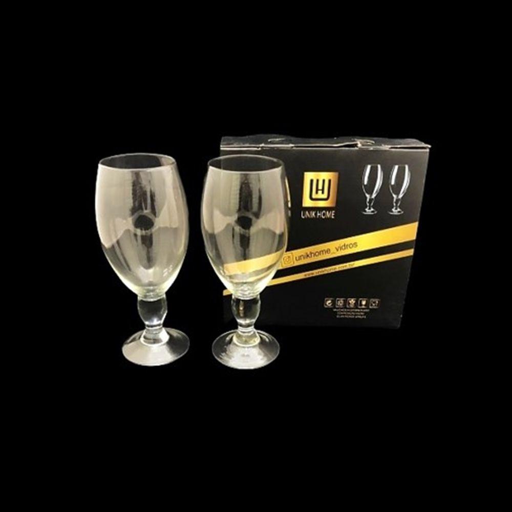Jogo De 2 Taças de Vidro Para Cerveja e Outros 630ml Unik Home UH090049-2