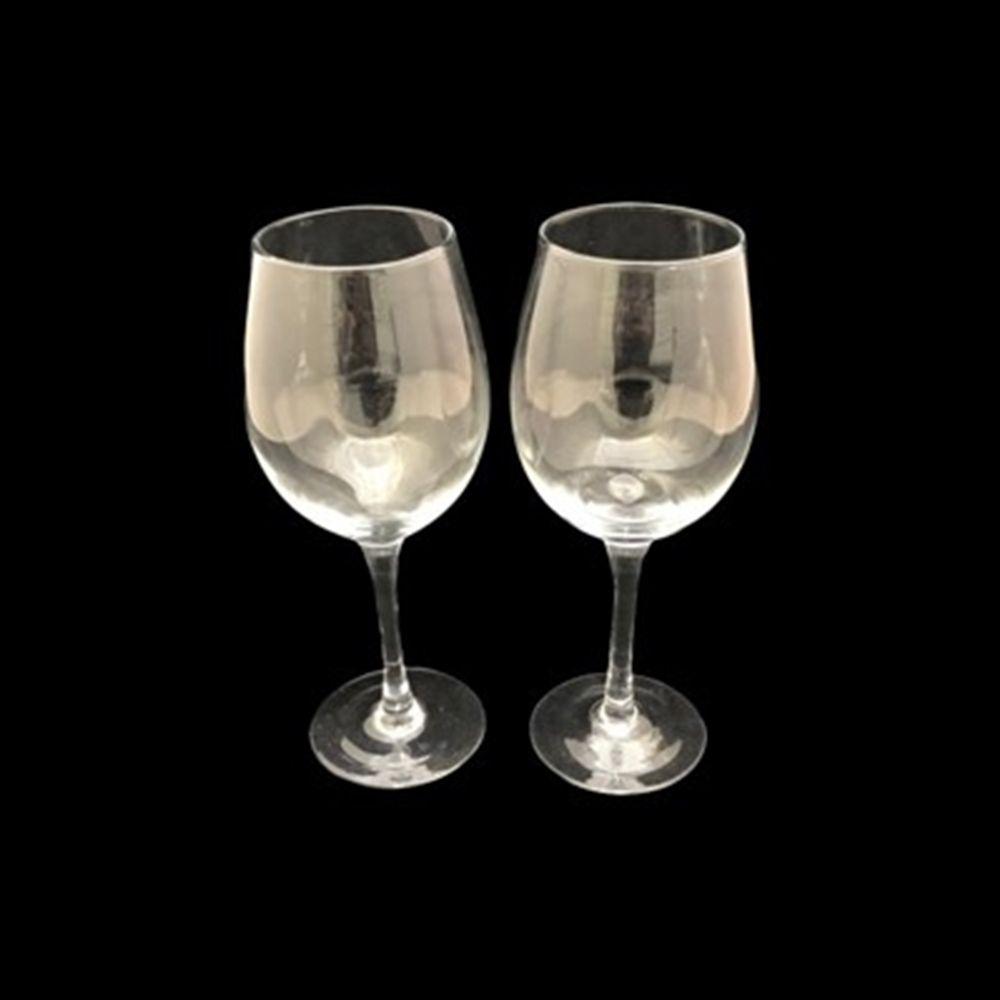 Jogo De 2 Taças de Vidro Para Vinho e Outros 400ml Unik Home UH090050-2