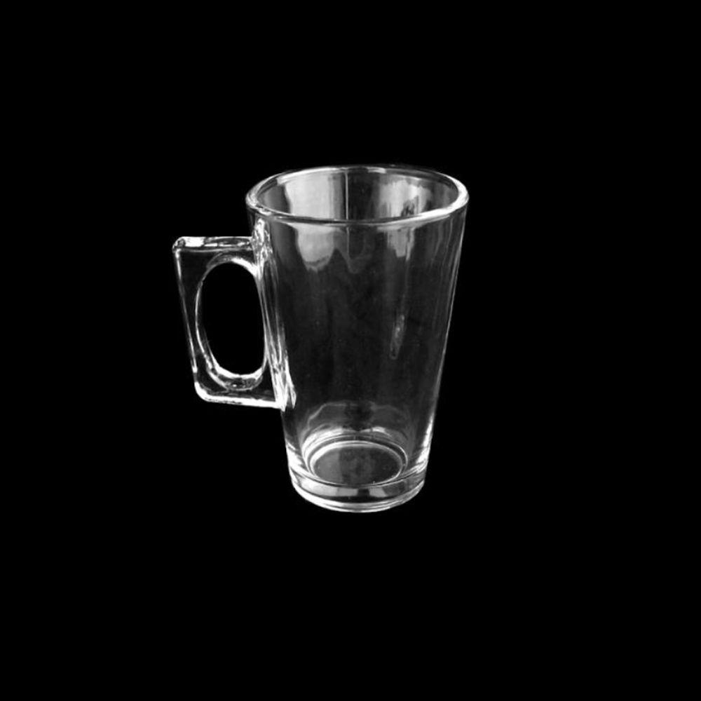 Jogo de 6 Canecas de Vidro Café Chá e outros Unik Home UH0402-6