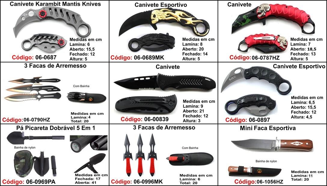 kit 10 canivete base M