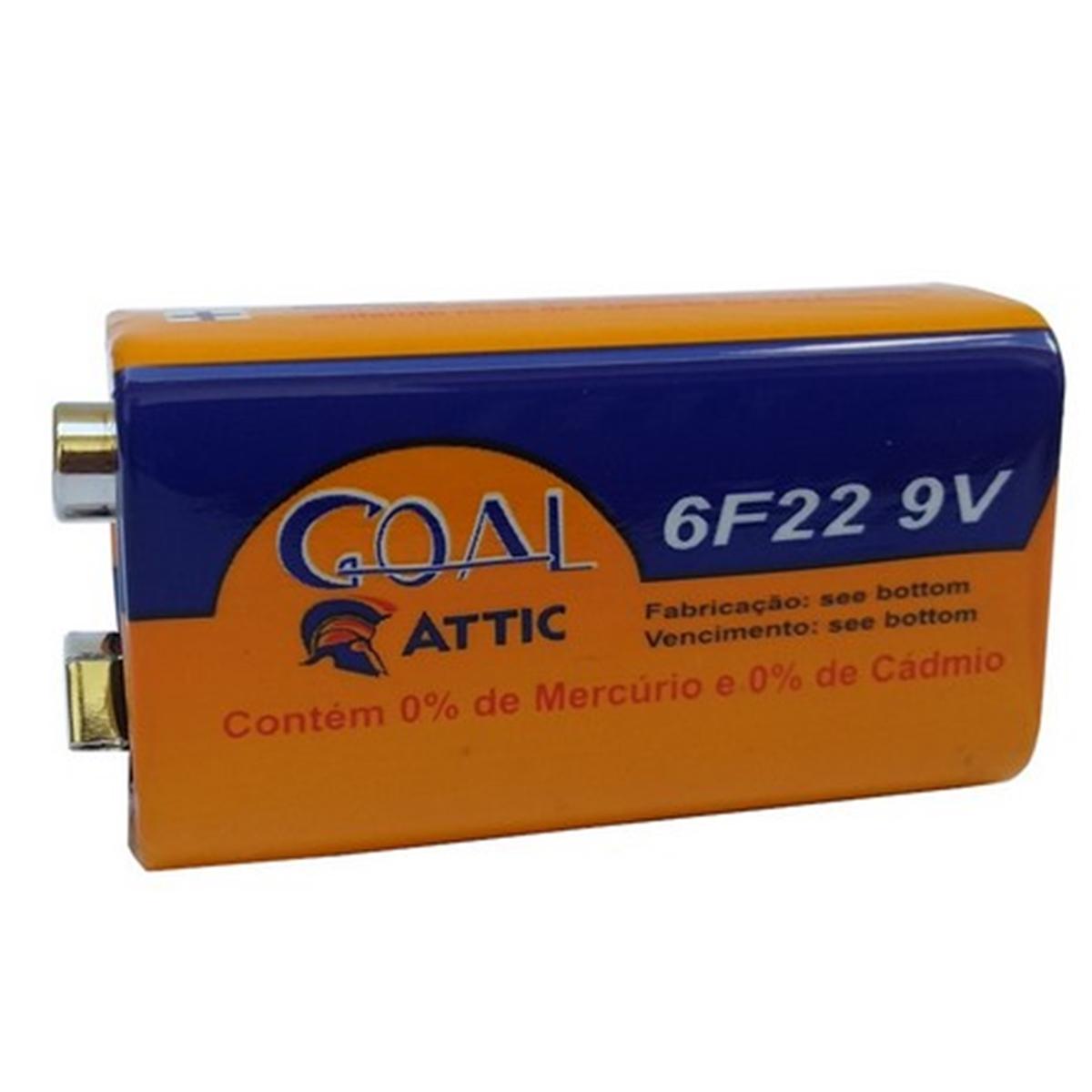 Kit 30 Bateria 9V Multimetro Controle Lanterna Brinquedos Pilha Goal Attic - GL-9V-3