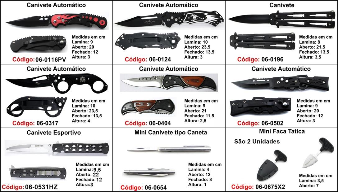 kit 30 canivetes base p