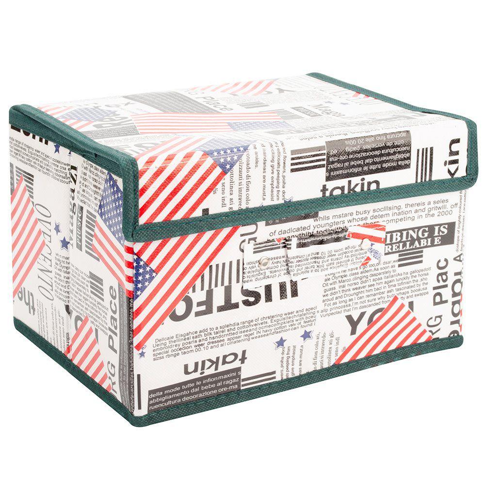 Kit 3 Caixas Organizadora Rígida pequena armários closet quarto MKD1008-3