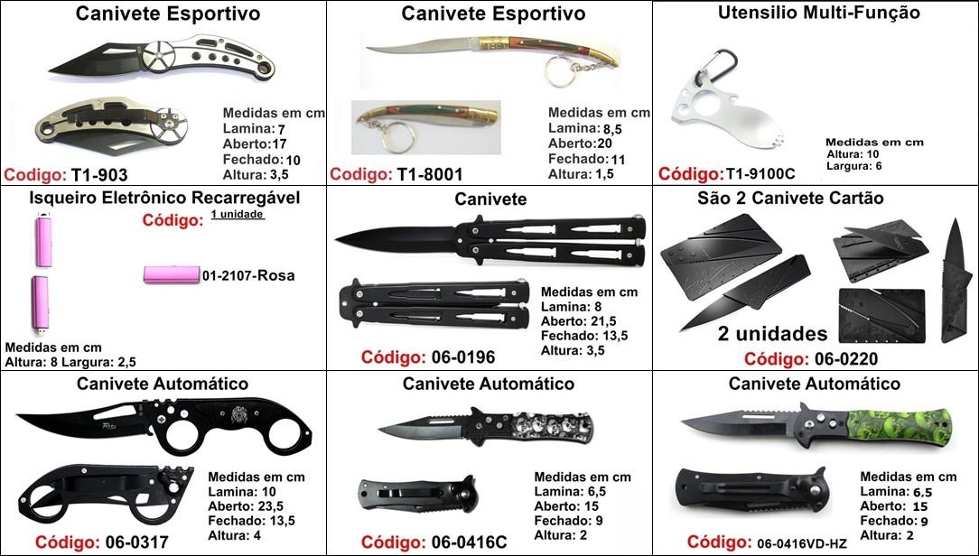 kit 3 canivetes base P