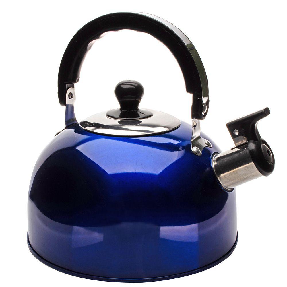 Kit 3 Chaleiras Basic Color em aço Inox 2 litros  Ke Home 3889-3