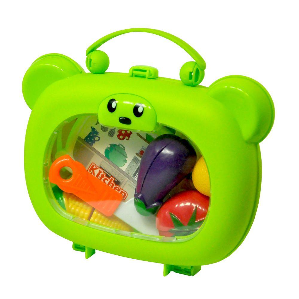 Kit Chefe de Cozinha Infantil Mini Maleta com Alça e Acessórios DM Toys DMT5660