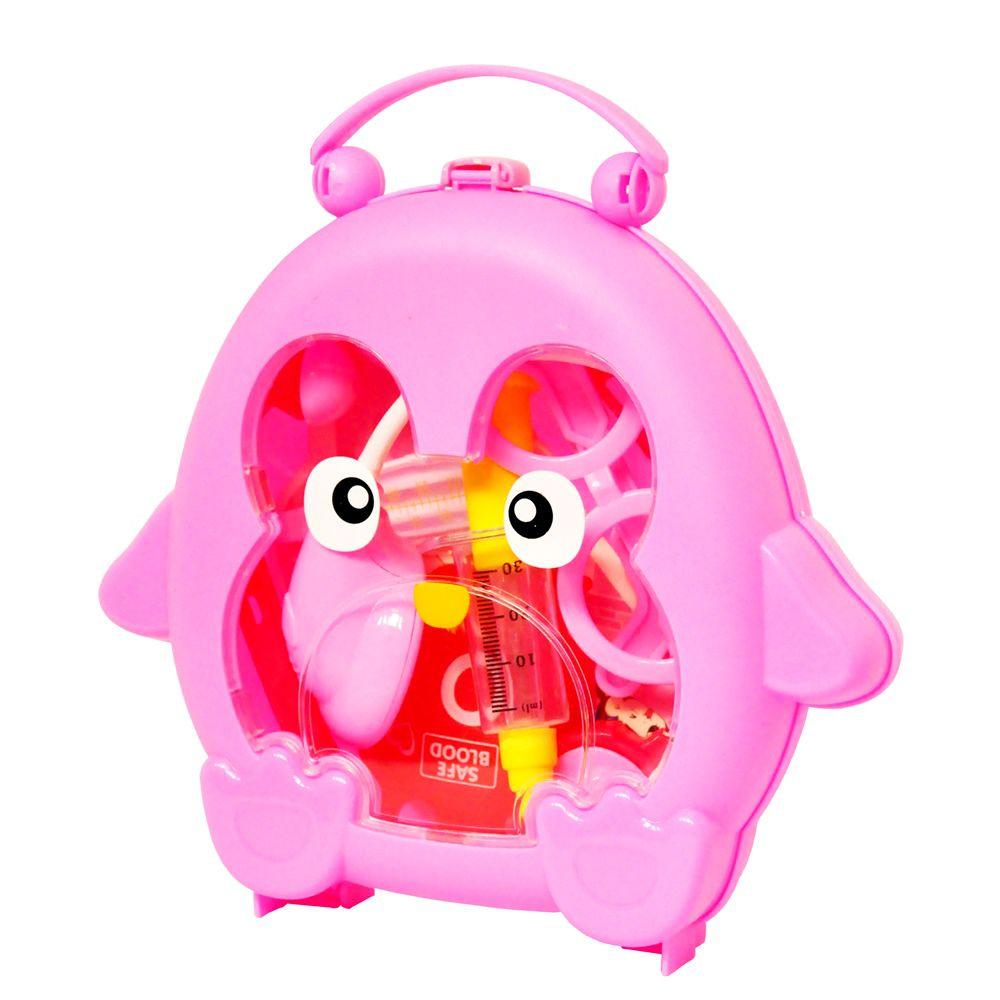 Kit Doutora Pinguim Infantil Mini Maleta com Alça e Acessórios DM Toys DMT5663