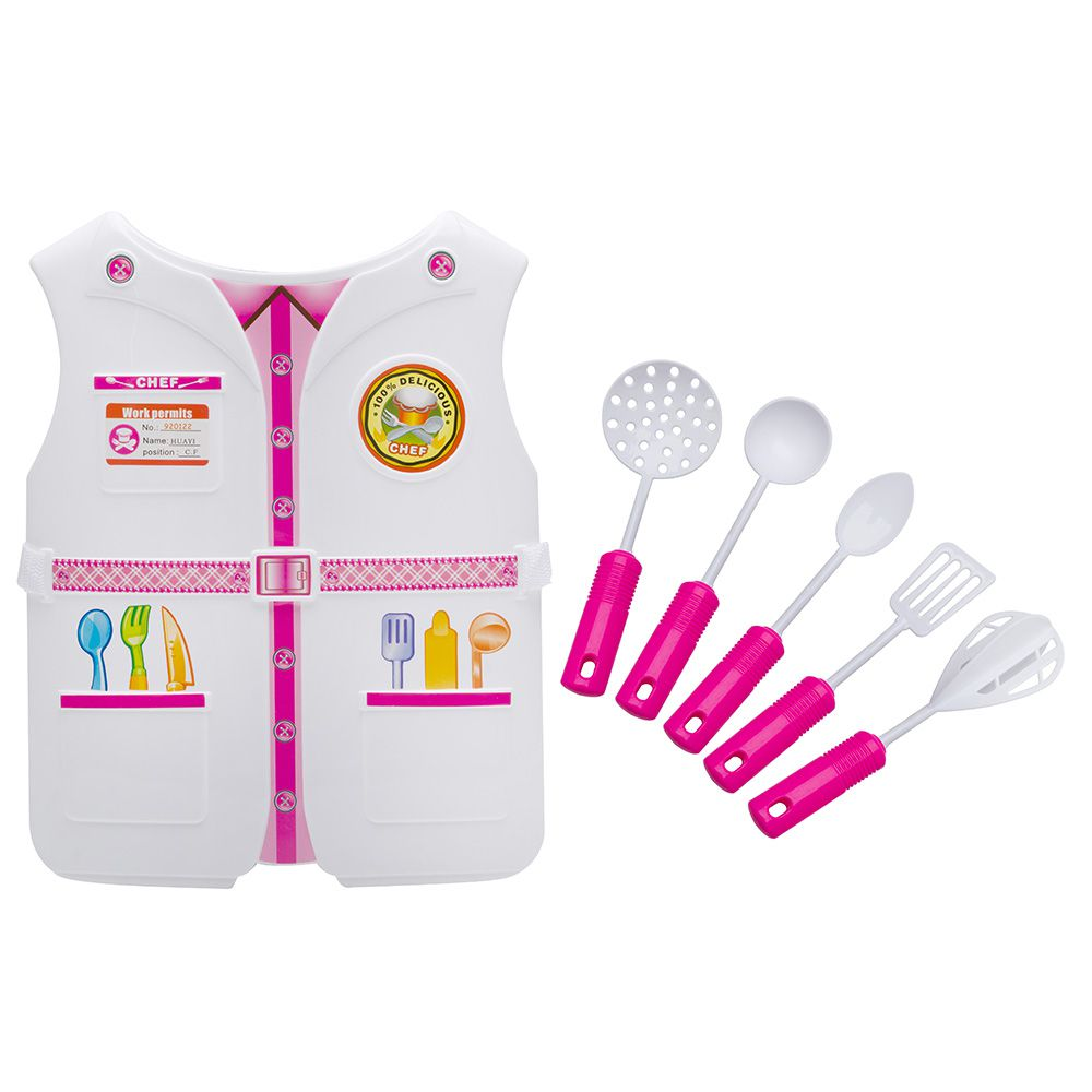 Kit Fantasia Infantil Criança Profissões Enfermeira e Chef de Cozinha