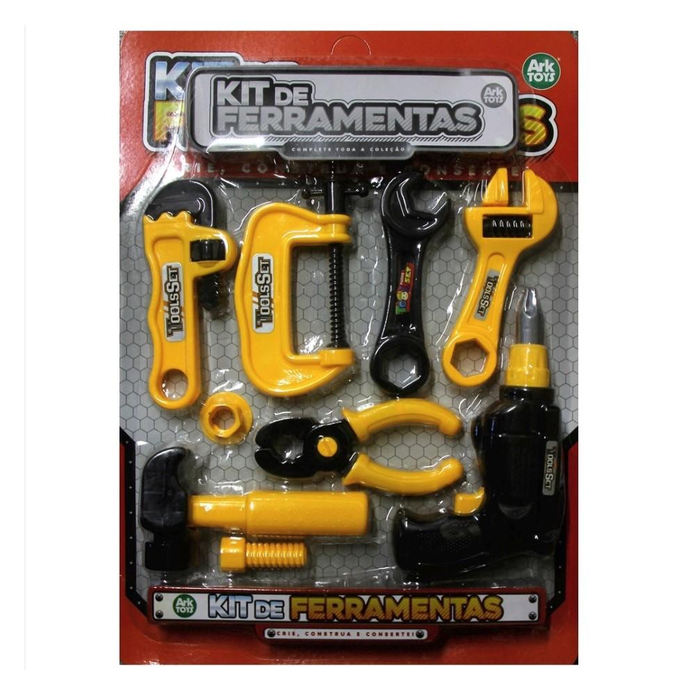 Kit Ferramenta E Acessorios 9 Peças Ark Toys AKT3553