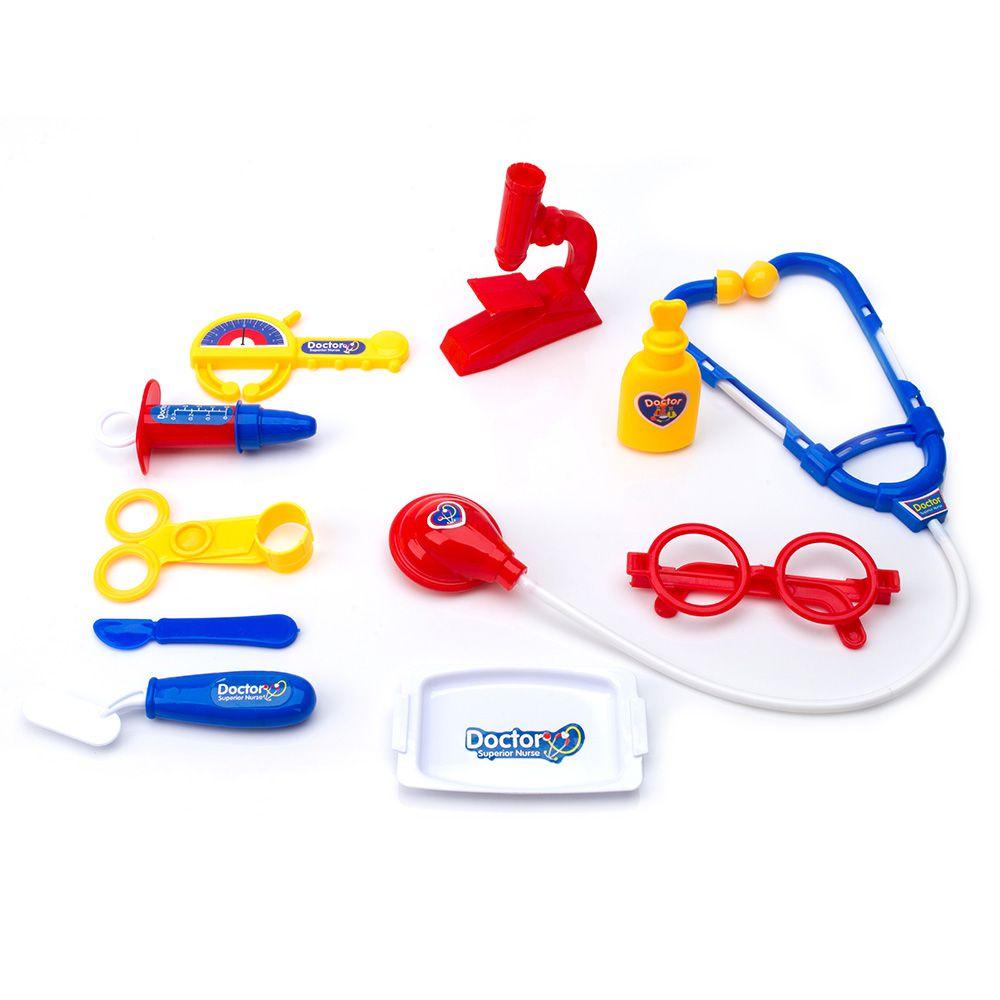 Kit Infantil Medico Criança Profissão Maleta com rodinha e Acessórios TOYS-190154