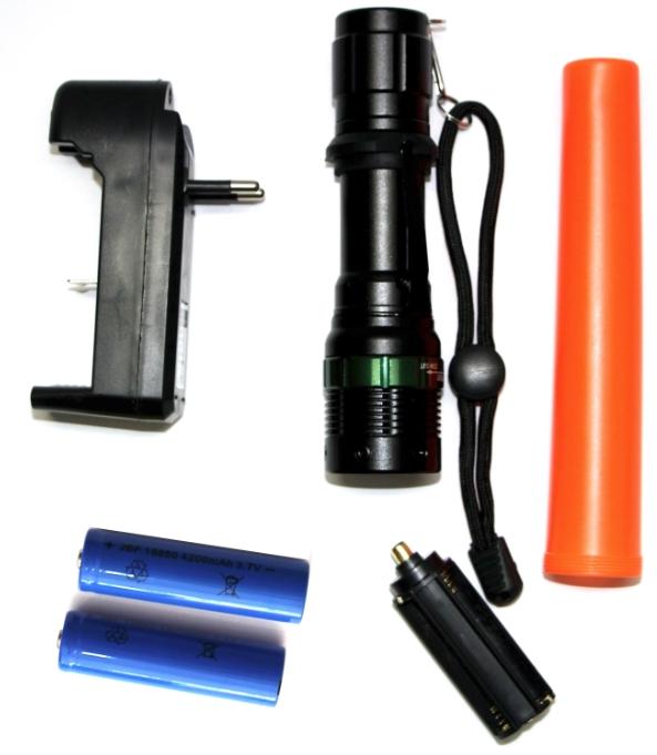 Kit Lanterna Tatica Led Police cred q5 Lumen 2 bateria Recarregavel 3010