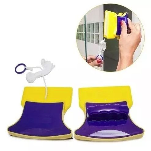 Rodo Limpador Magnético Limpa Vidro Aquários Janelas Multi uso MC148259