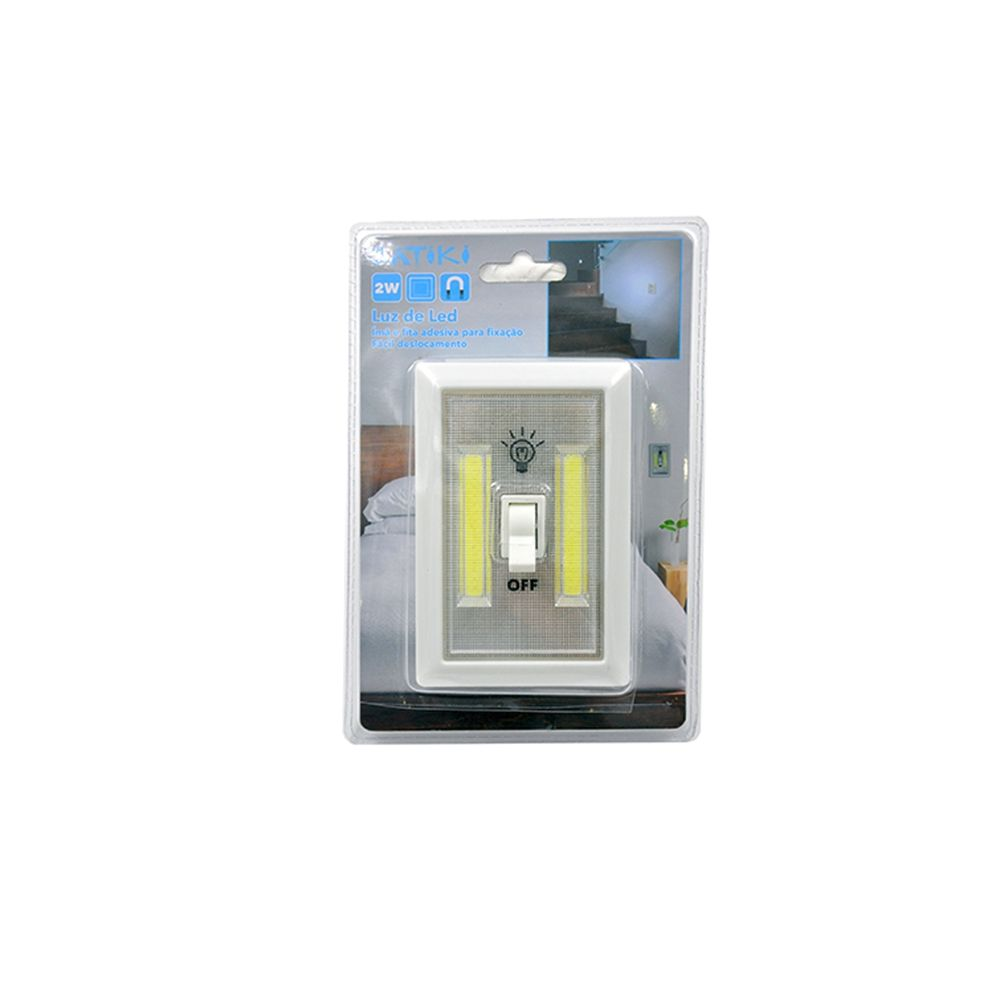 Luminaria Led Estilo Interruptor de Luz a Pilha 01292