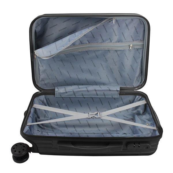 Mala de Viagem Contempo Preto de bordo medidas aprovada Jacki Design AHZ18675