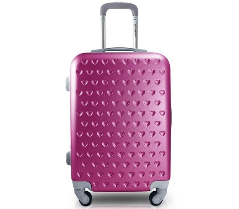 Mala de Viagem de bordo 360º Love Pink ABS Jacki Design AHZ19860