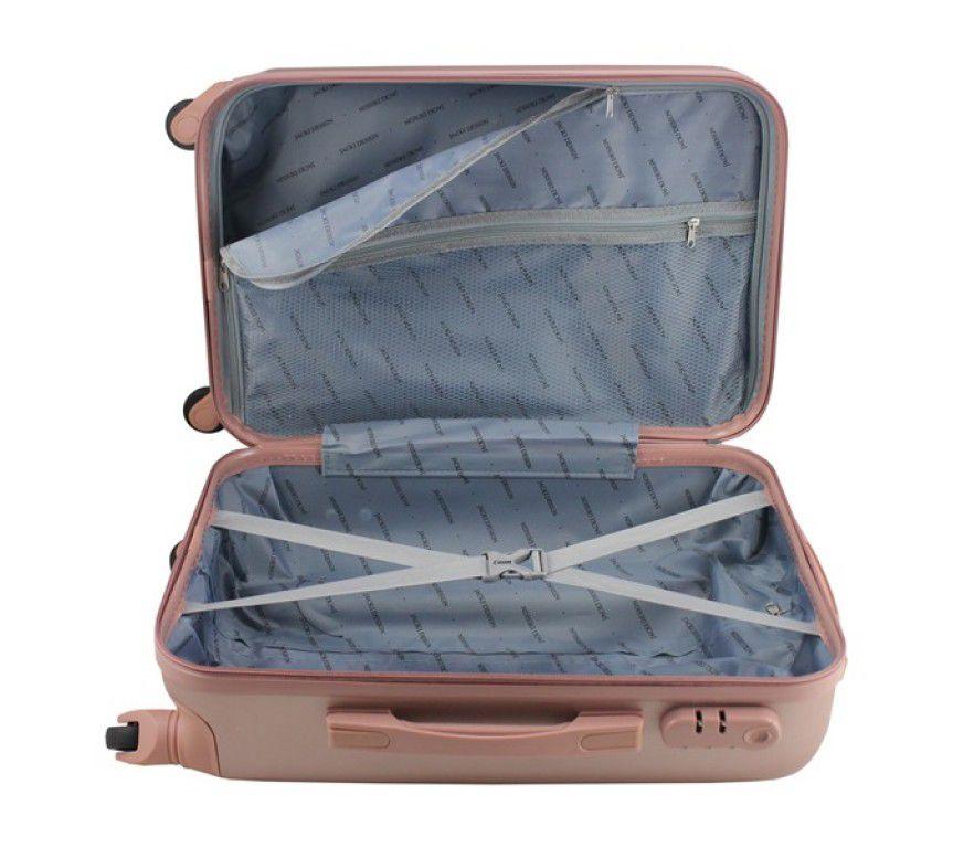 Mala de Viagem de bordo 360º Love Rosê ABS Jacki Design AHZ19853