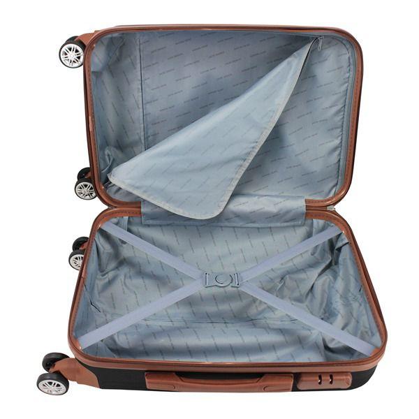 Mala de Viagem  de bordo 360º Premium Preto ABS Jacki Design AMF19800