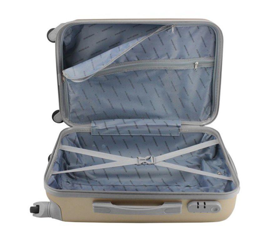 Mala de Viagem de bordo 360º Select Dourada ABS Jacki Design AHZ19868