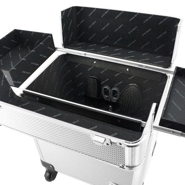 Maleta Profissional com Rodinhas de 360º Prata Alumínio Jacki Design BJH18656
