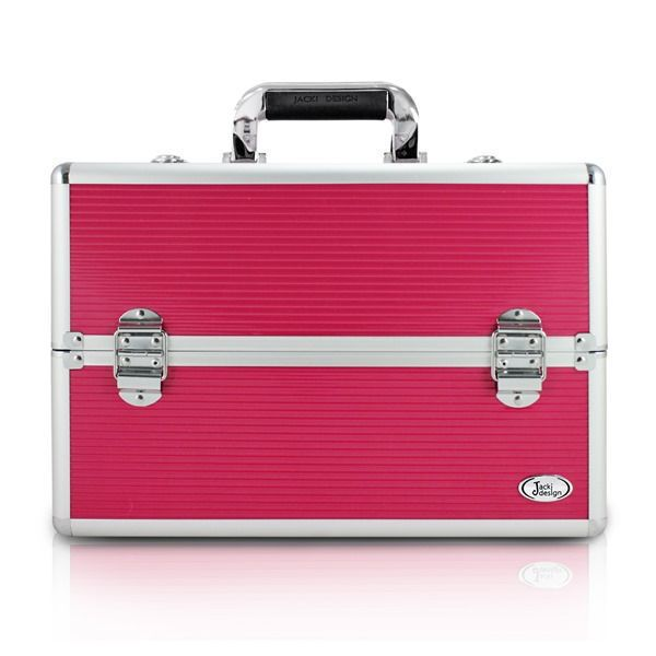 Maleta Profissional de Maquiagem Pink Grande Jacki Design BSB17295