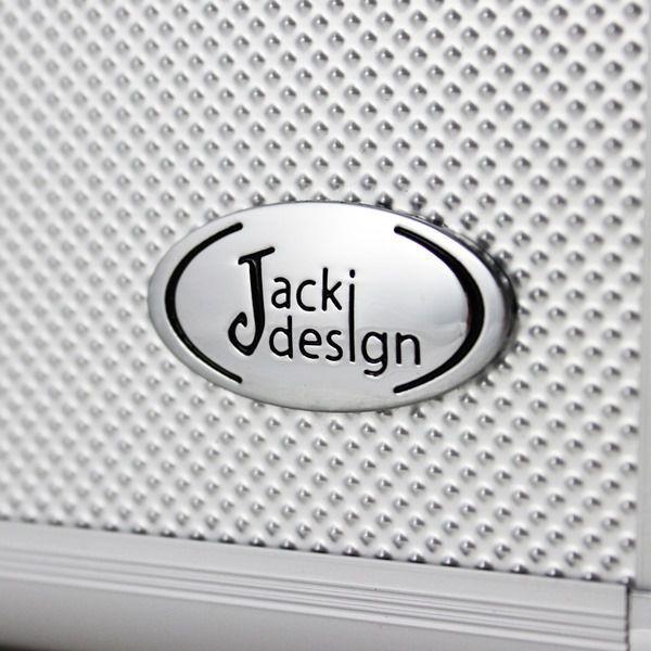 Maleta Profissional de Maquiagem Prata Pequena Jacki Design BJH17296