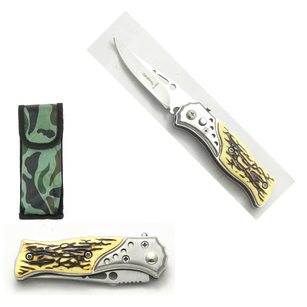 Mini Canivete Esportivo Automático Caça Pesca Etc. Modelo SL0048