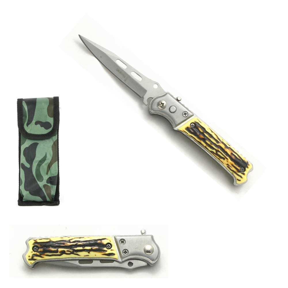 Mini Canivete Esportivo Automático Caça Pesca Etc. Modelo SL0050