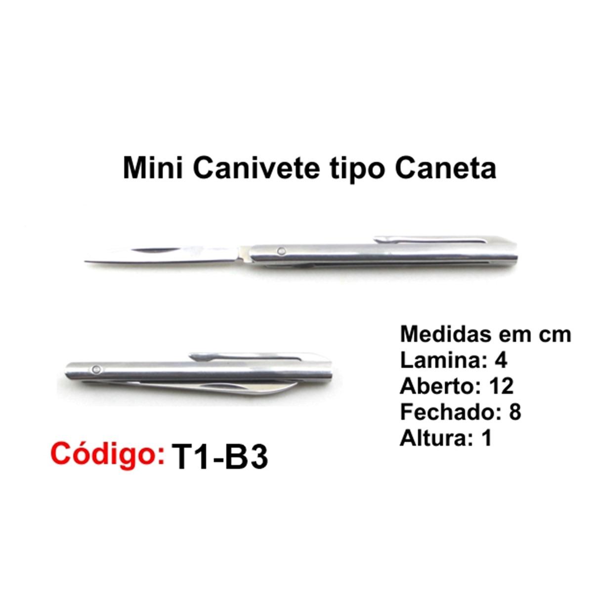 Mini Canivete Tipo Caneta T1-B3