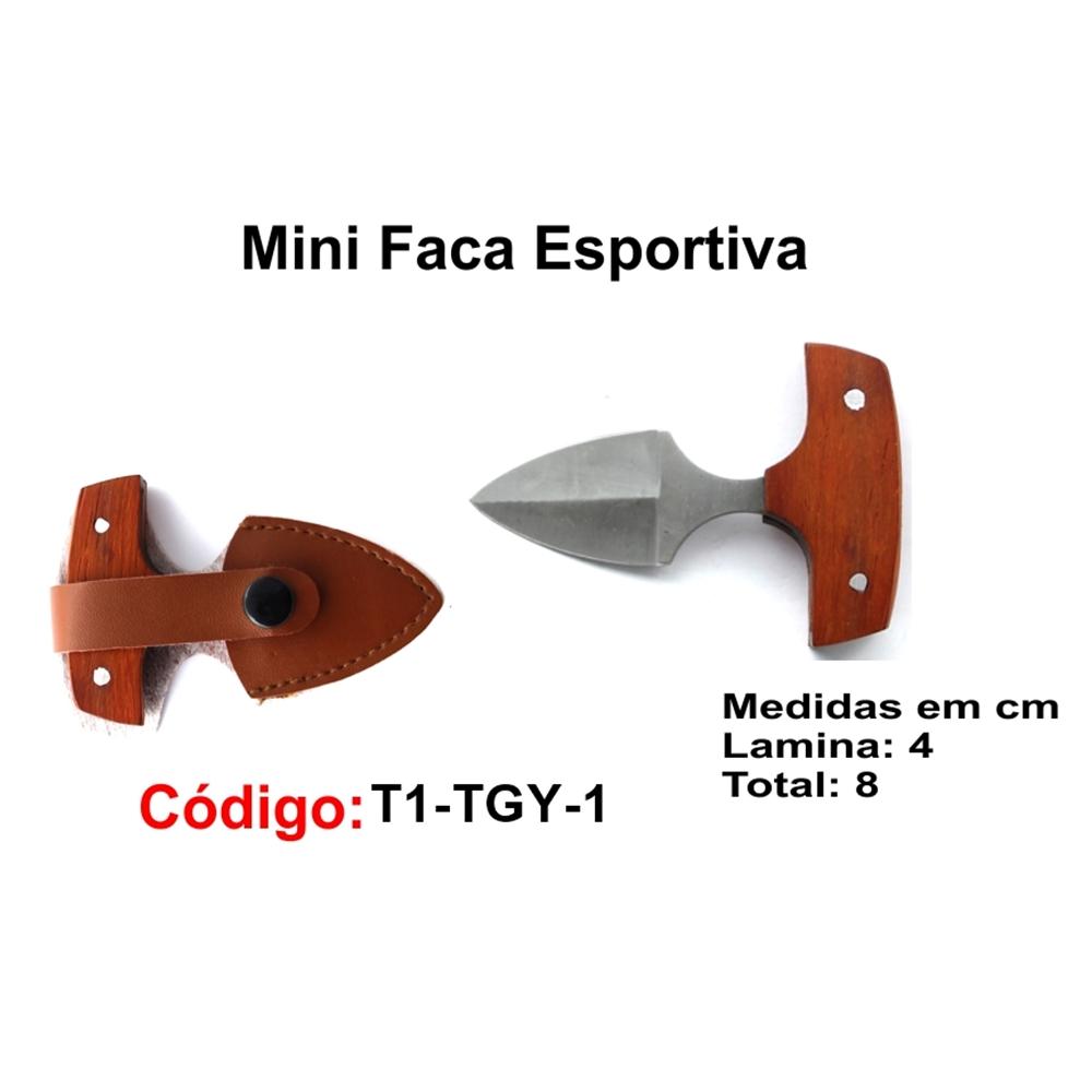 Mini Faca Esportiva Caça Pesca Etc. T1-TGY-1