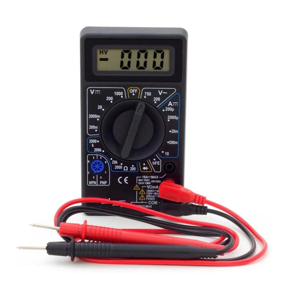Multímetro Digital Portátil Multiuso Preto Aço Forte DT-830B