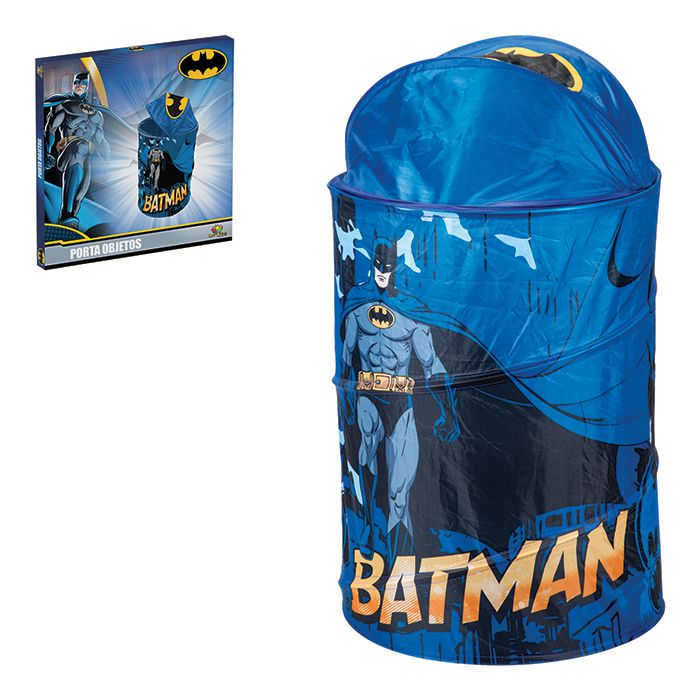 Organizador De Brinquedos 43x58cm Batman Saco Cesto Porta Objetos Treco 836290