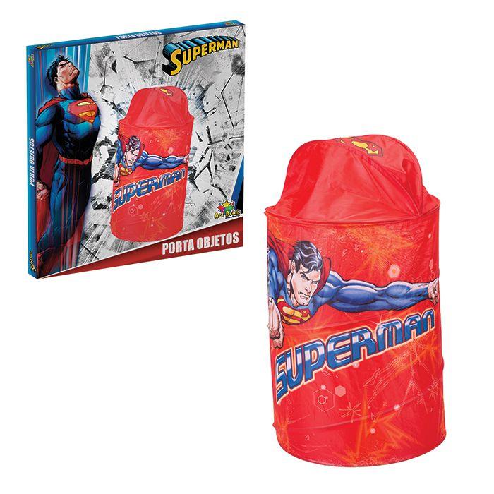 Organizador De Brinquedos 43x58cm Superman Saco Cesto Porta Objetos Treco 836307