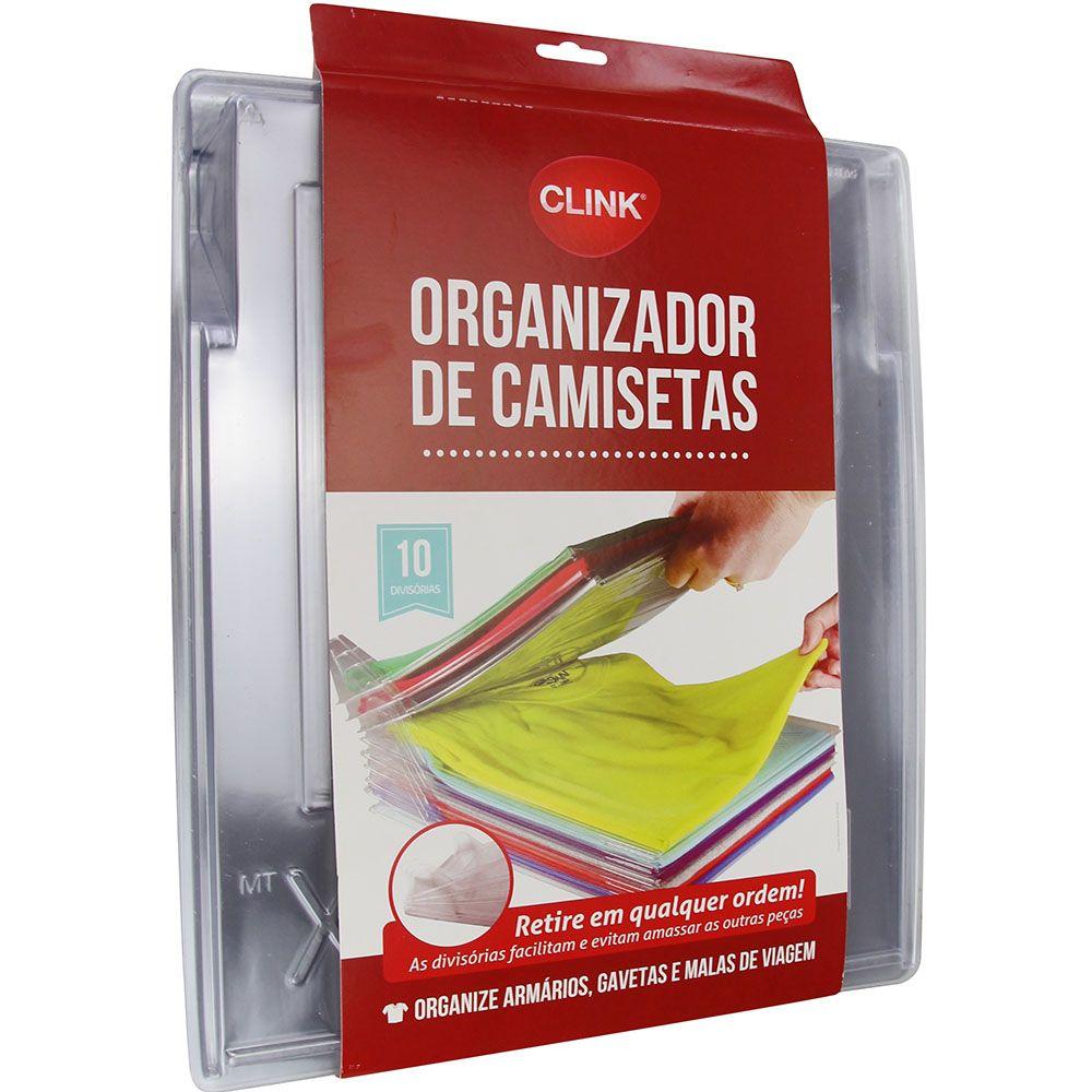 Organizador para 10 Camisetas Plástico gaveta 34,5x29,5x6,5cm CK1935