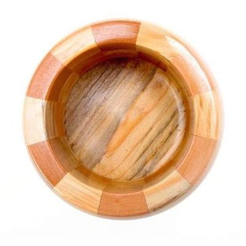 Pilão Com Socador para Alho Grande em Madeira Ke Home 5565-1