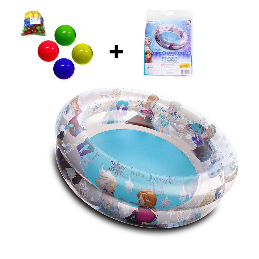 Piscina de Bolinhas da Frozen Infantil 70L + 50 Bolinhas